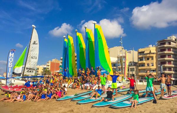 Escola de vela, calafell, sup, kayak, catamarán, patín catalan, escuela de vela calafell, náutica